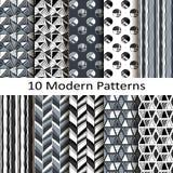 Set of ten modern patterns Royalty Free Stock Photography