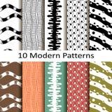 Set of ten modern patterns Royalty Free Stock Photo