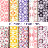 Set of ten mosaic patterns Stock Photo