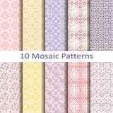 Set of ten mosaic patterns Stock Photo