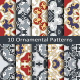 Set of ten ornamental patterns Royalty Free Stock Photo