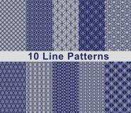 Set Of Pattern In Seamless Design. royalty free illustration