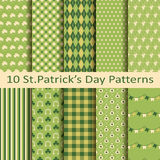 Set of ten patterns for St.Patrick's day Stock Photography
