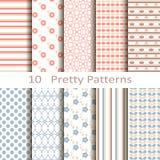 Set of ten pretty patterns Stock Photography