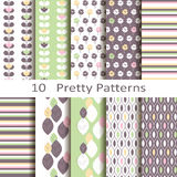 Set of ten pretty patterns. Set of ten vector pretty patterns Royalty Free Stock Photography