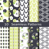 Set of ten pretty patterns Stock Image