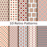 Set of ten retro patterns stock illustration