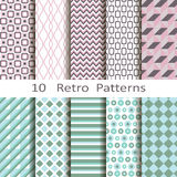 Set of ten retro patterns Royalty Free Stock Images