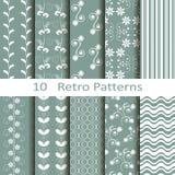 Set of ten retro patterns Royalty Free Stock Photo