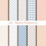 Set of ten retro patterns Royalty Free Stock Photos