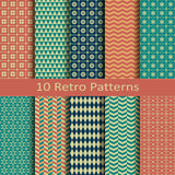 Set of ten retro patterns Stock Photography