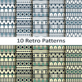 Set of ten retro patterns. Vector set of ten retro patterns royalty free illustration