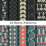 Set of ten retro patterns Stock Images