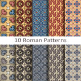 Set of ten roman patterns Royalty Free Stock Photo