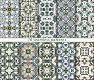 Set of ten seamless abstract patterns. Stock Image