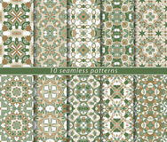 Set of ten seamless abstract patterns. Royalty Free Stock Photos