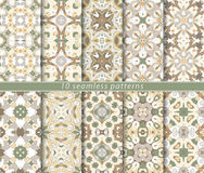 Set of ten seamless abstract patterns. Royalty Free Stock Images
