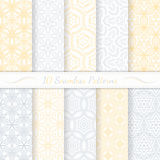 Set of ten seamless modern patterns. Stock Photo