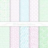 Set of ten seamless modern patterns. Royalty Free Stock Photos