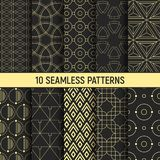 Set of ten seamless patterns. stock illustration