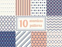 Set of ten seamless patterns. royalty free illustration