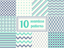 Set of ten seamless patterns. Royalty Free Stock Photography