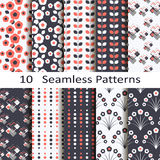 Set of ten seamless patterns Stock Image