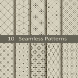 Set of ten seamless patterns Stock Photos