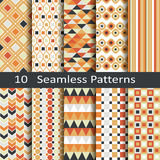 Set of ten seamless patterns Royalty Free Stock Photos