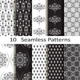 Set of ten seamless patterns Royalty Free Stock Photo
