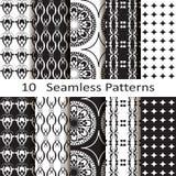Set of ten seamless patterns Stock Image