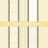 Set of ten seamless patterns Stock Photography