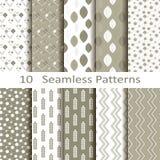 Set of ten seamless patterns Royalty Free Stock Photos