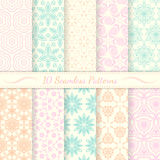Set of ten seamless retro patterns. Royalty Free Stock Images