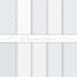 Set of ten seamless retro patterns. stock illustration