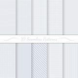 Set of ten seamless retro patterns. stock illustration