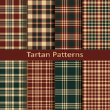 Set of ten seamless vector scottish tartan square patterns. design for covers, textile, packaging Stock Image