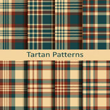 Set of ten seamless vector tartan patterns. design for packaging, cloths, covers Royalty Free Stock Photography