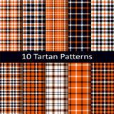 Set of ten seamless vector tartan square patterns Vector Illustration