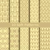Set of ten soft patterns Royalty Free Stock Photo