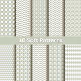 Set of ten soft patterns Royalty Free Stock Photography