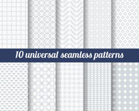 Set of ten subtle seamless patterns. Stock Photo
