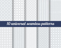 Set of ten subtle seamless patterns. Stock Photos