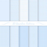 Set of ten subtle seamless patterns. Stock Image
