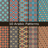 Set of ten traditional arabic patterns Royalty Free Stock Image