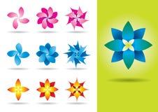 Set of ten vector flowers Stock Image