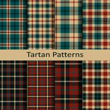 Set of ten vector trendy scottish tartan patterns. design for wrapping, packaging, covers, cloths, christmas Royalty Free Stock Photography
