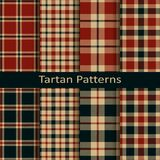 Set of ten vector trendy scottish tartan patterns. design for wrapping, packaging, covers, cloths, christmas Royalty Free Stock Image