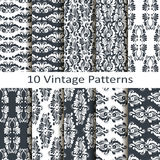 Set of ten vintage patterns Royalty Free Stock Photography
