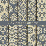 Set of ten vintage patterns Royalty Free Stock Images